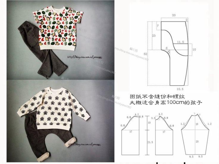 ★아동 상하복★ 래글런티셔츠 & 배기팬츠 & 가디건 패턴 자료출처http://blog.sina.com.cn/