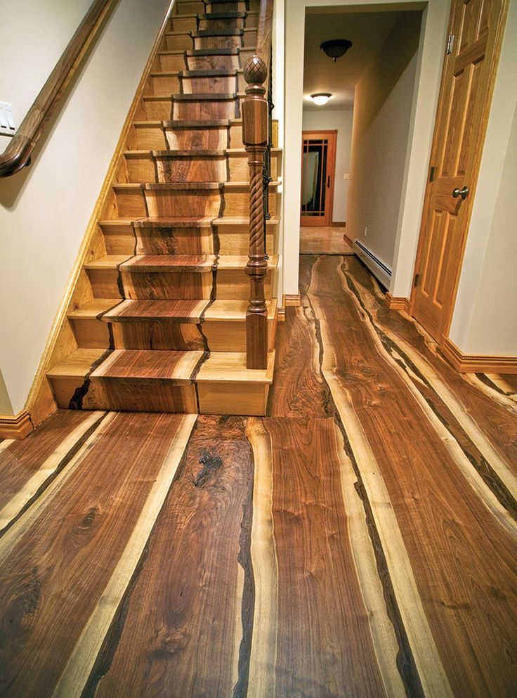 Stairs and floor made from a tree downed by Hurricane Sandy