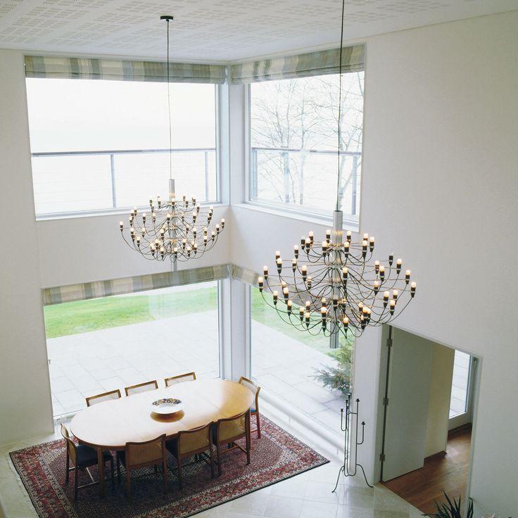 2097/30 lysekrone fra Flos, designet av Gino Sarfatti. En sann designklassiker med vakkert formspr&#...