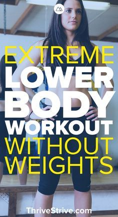 Looking to get a good workout in for your lower body? Here is an extreme lower body workout that you can do at home.