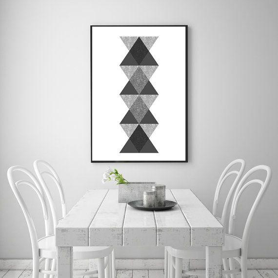 Totem Abstract Art Decorative Print  Aztec by NordicPrintStudio