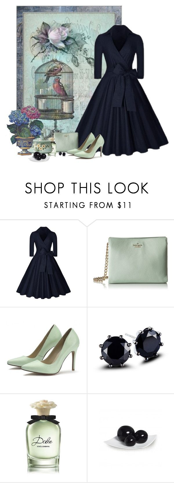 """""""Marinha & Celadon"""" by sil-engler ❤ liked on Polyvore featuring Kate Spade and Dolce&Gabbana"""