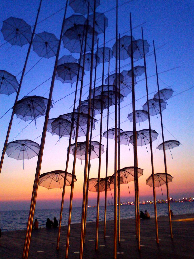 Photograph Floating Umbrellas by Maria  Vincentios on 500px