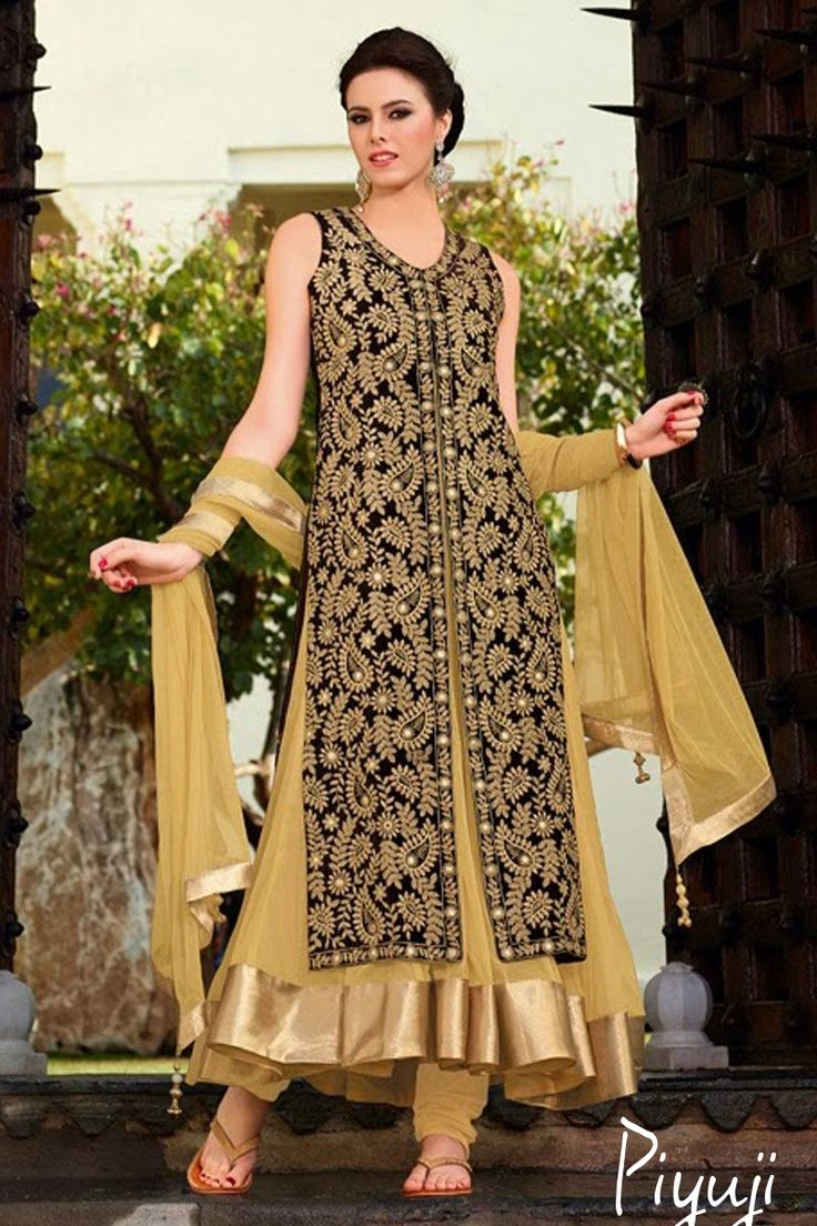 Embroidery work full length salwar suit