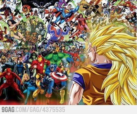 Goku vs DC + Marvel (Bring it!) P.S Goku would still WIN!