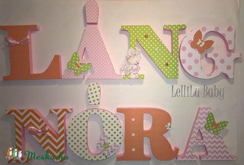 Betű szett-4 betűs lányoknak, Baba-mama-gyerek, Dekoráció, Gyerekszoba, Baba…