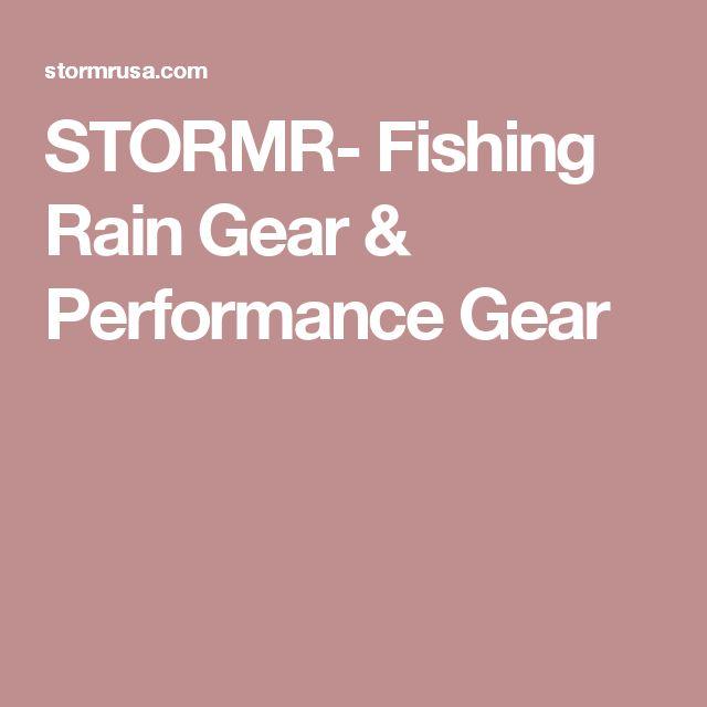 STORMR- Fishing Rain Gear & Performance Gear