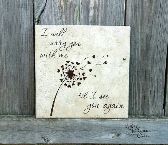 In Loving Memory Gift I will carry you with me by LettersbyLaurie
