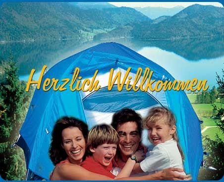 Camping am Walchensee: Willkommen