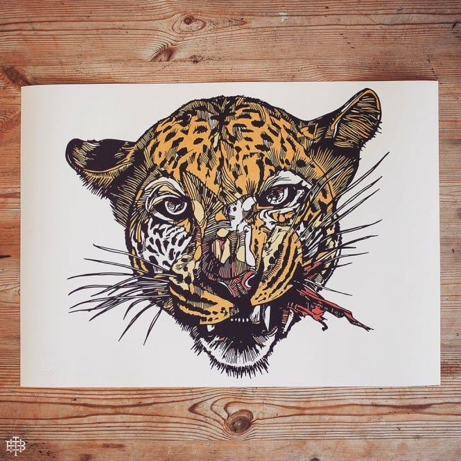 - ANGRY CAT - LIMITED EDITION A2 PRINT - EDITION OF 50 -