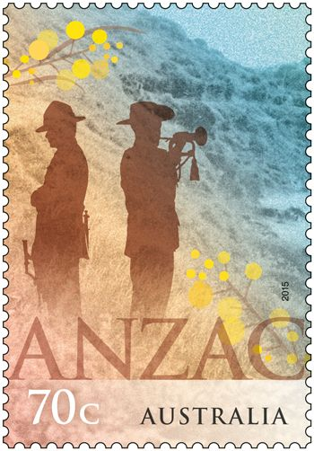 We released a joint stamp issue with New Zealand Post commemorating the formation and service of the Australian and New Zealand Army Corps (ANZAC). Buy in-store or online: http://auspo.st/1E4oJtP
