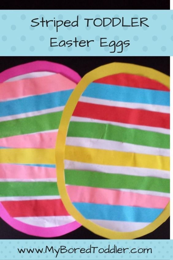 Toddler Striped Easter Egg CraftEasy Easter Crafts For Two Year Olds   lesternsumitra com. Easy Easter Crafts For Two Year Olds. Home Design Ideas