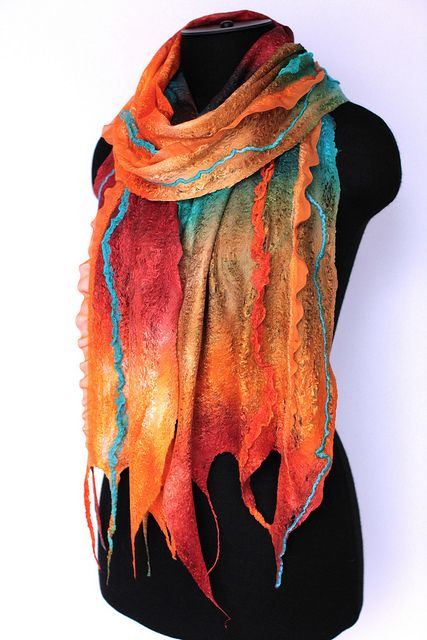 Cobweb Felted Scarf Wrap | Flickr - Photo Sharing!
