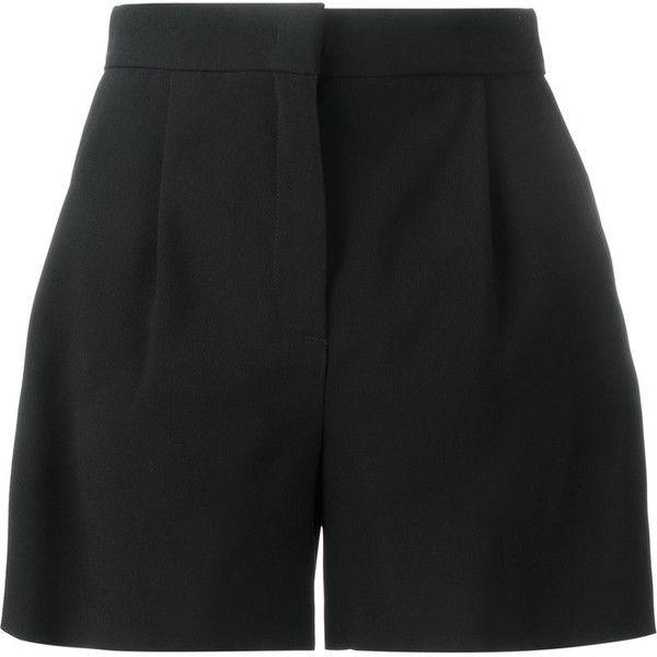 Alberta Ferretti Alberta Ferretti Wide-Leg Tailored Shorts (590 PAB) ❤ liked on Polyvore featuring shorts, bottoms, black, alberta ferretti and tailored shorts