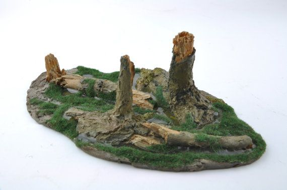 Swamp Marsh Trees Stumps  Forest Resin Gameboard  by resinscenery