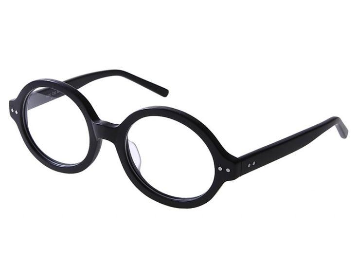 Panto-Gleitsichtbrille aus Kunststoff in Schwarz-Matt