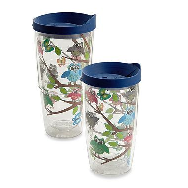 Tervis Whimsical Owls on a Tree Branch Wrap Tumblers Pinned by www.myowlbarn.com