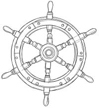 free ships wheel nautical digital stamp set