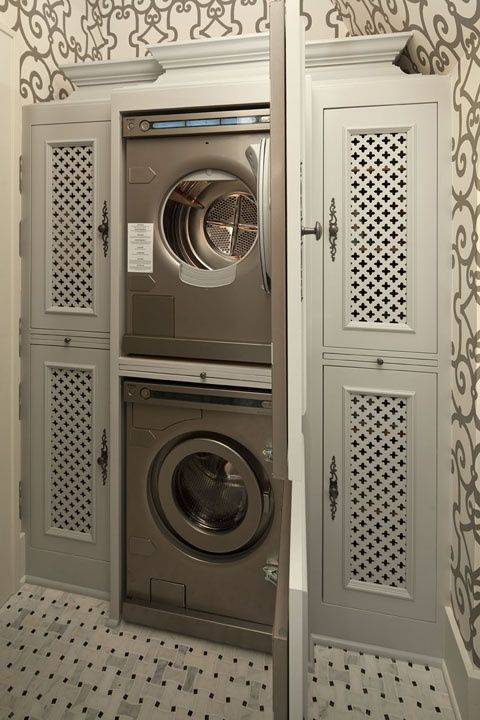 Doors to hide the washer when I'm using the room as a butler's pantry.