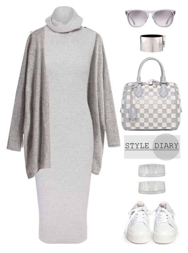 """""""Sweater Dress"""" by youaresofashion ❤ liked on Polyvore featuring Whistles, Ash, Oliver Peoples, John Lewis, Louis Vuitton, CÉLINE and sweaterdresses"""