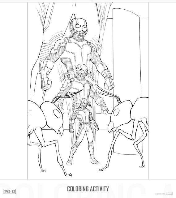 Ant Man Pictures To Colour Coloring Coloring Pages