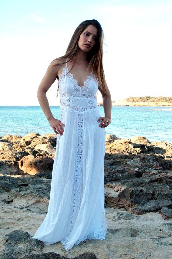 Vestido largo Charo Ruíz Ibiza blanco