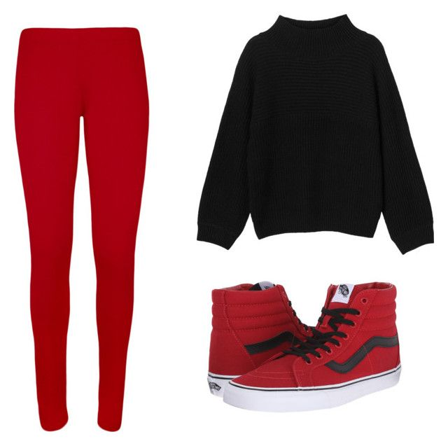 """Homewear boyfriend style"" by azarum on Polyvore featuring WearAll, Monki and Vans"