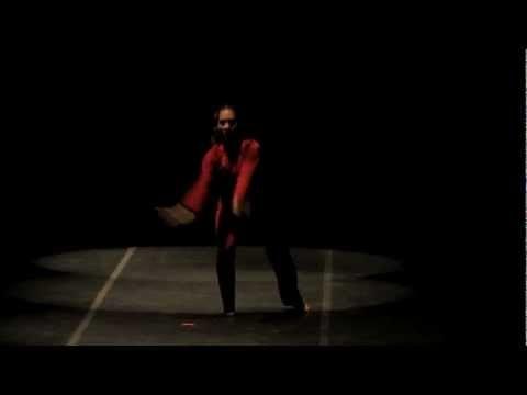 La Rendija Danza de Venezuela - En rojo. Presentación de la Compañía La Rendija Danza de Venezuela en el Teatro Pablo de Villavicencio del Instituto Sinaloense de Cultura (ISIC) dentro del 10º Encuentro Internacional de Danza Contemporánea Solistas y Duetos. (4 Diciembre 2012)
