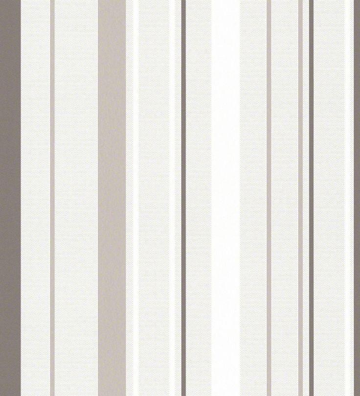 Papel pintado rayas modernas marrón grisáceo fondo entelado - 1141345