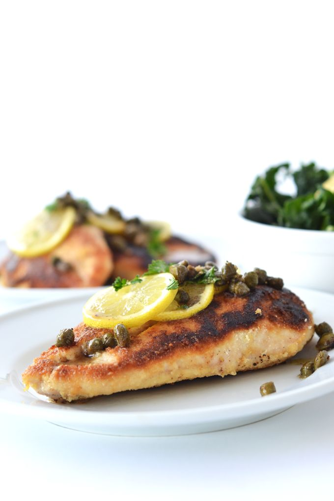 Whole30 Chicken Piccata tastes just like the original with one healthy swap! This is a great healthy weeknight dinner for any diet!