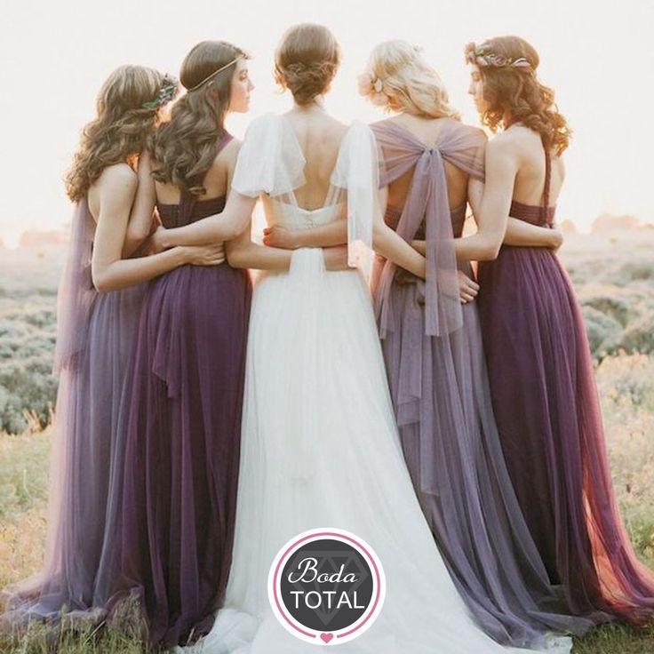 Las damas de honor son la mano derecha de toda novia, en la sesión de fotos recuerda hacer una foto representativa #BodaTotalTips