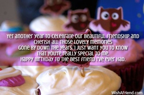 Beautiful  birthday message for best friend