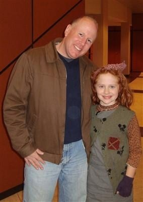"Emily as little orphan Molly in ""Annie"" at the Eagle Hill School in Hardwick, MA"