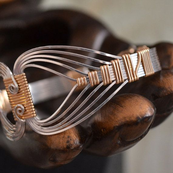 Gorgeous work - Egyptian wire wrapped Bracelet with a Twist  by Untwistedsister, $65.00