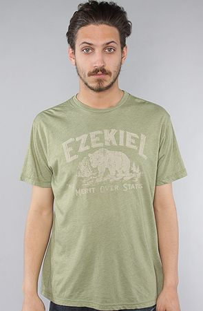 The Campground T-Shirt in Heather Moss by Ezekiel