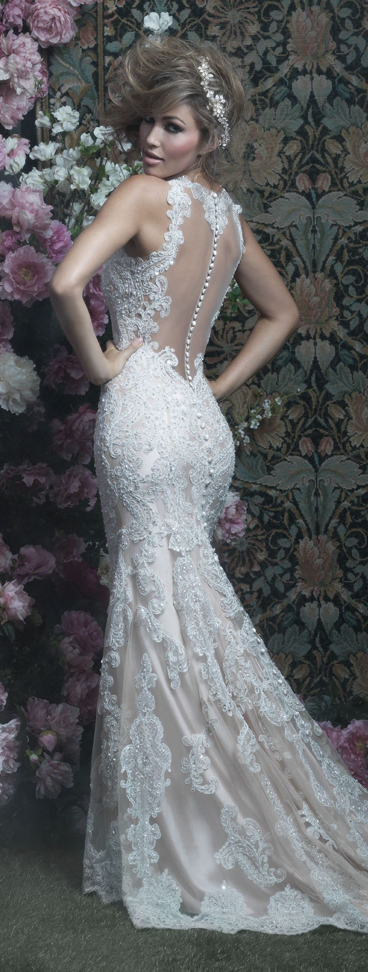 Lace back Wedding Dress by Allure Couture | @allurebridals