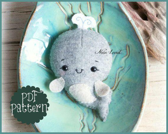 Cute whale (PDF Pattern)