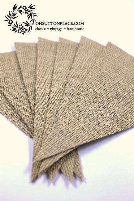 How to Make a Reversible Burlap Banner - NO SEWING! :: Hometalk