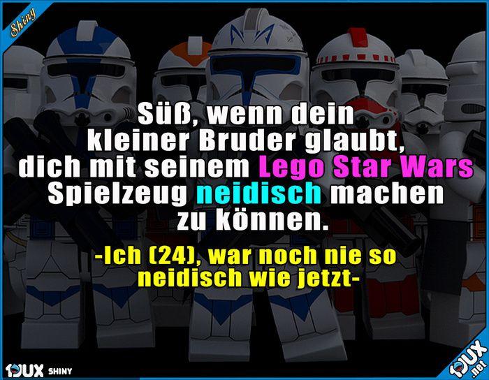 Klar bin ich neidisch!  Lustige Sprüche #Humor #Jodel #1jux #Sprüche #lustig #Lego #willauch #lustigeSprüche #Brüder