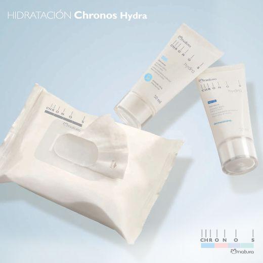 Te presentamos las nuevas toallitas desmaquillantes de Natura Chronos. Además de limpiar y tonificar tu piel, potencian la hidratación del rostro.