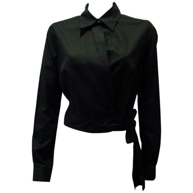 Angelo Tarlazzi Black Cotton Short Jacket With Sheer Net Back   From a collection of rare vintage jackets at https://www.1stdibs.com/fashion/clothing/jackets/