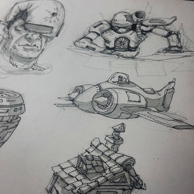 Daily practice #sketching #sketches #sketch #pen #pencil #robot #mech #mecha #plane