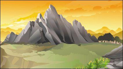 Beautiful landscapes 01 - vector