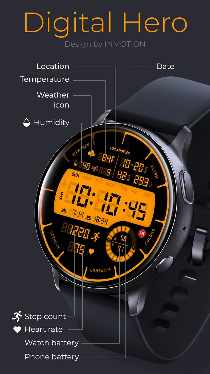 Digital hero facer the worlds largest watch face