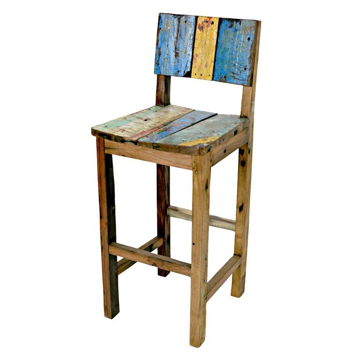 Ecologica Furniture Reclaimed Wood Bar Stool | Overstock.com
