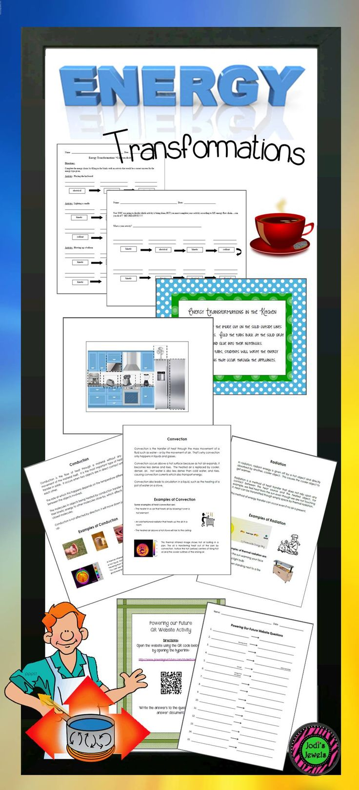 Best 20 energy transformation ideas on pinterest electrical energy transformation activities including convection conduction and radiation worksheets printables interactive journal robcynllc Images