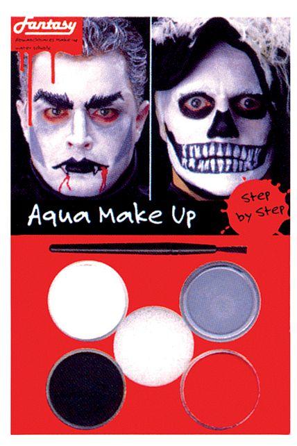 Un set de maquillage Draculaou bien Tête de mort disponible chez Ledeguisement.com