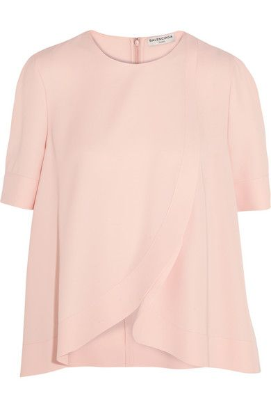 BALENCIAGA Asymmetric Crepe Blouse. #balenciaga #cloth #tops