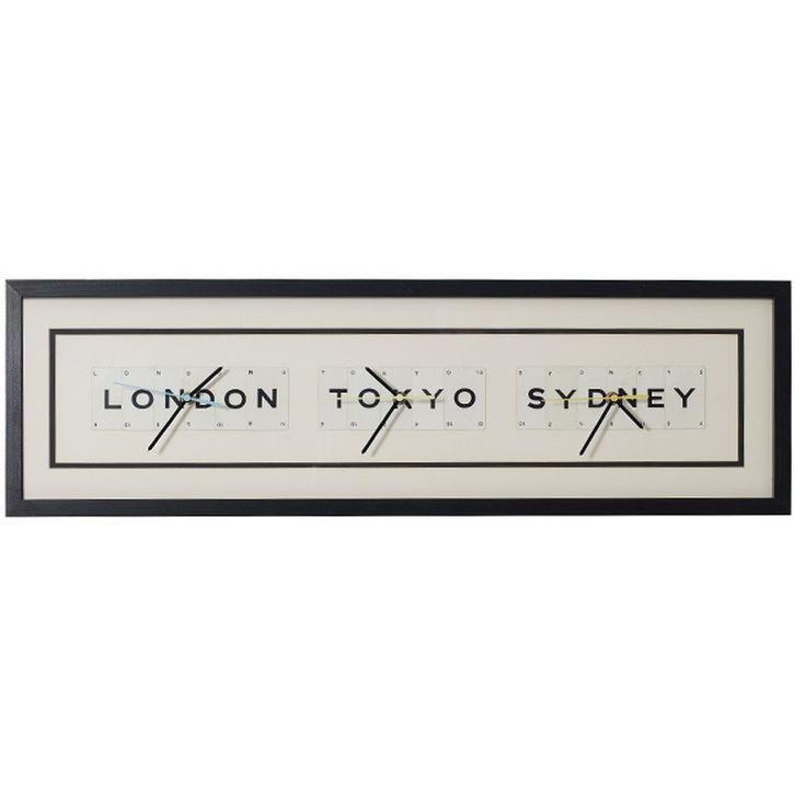 Vintage Playing Cards Clock London Tokyo Sydney