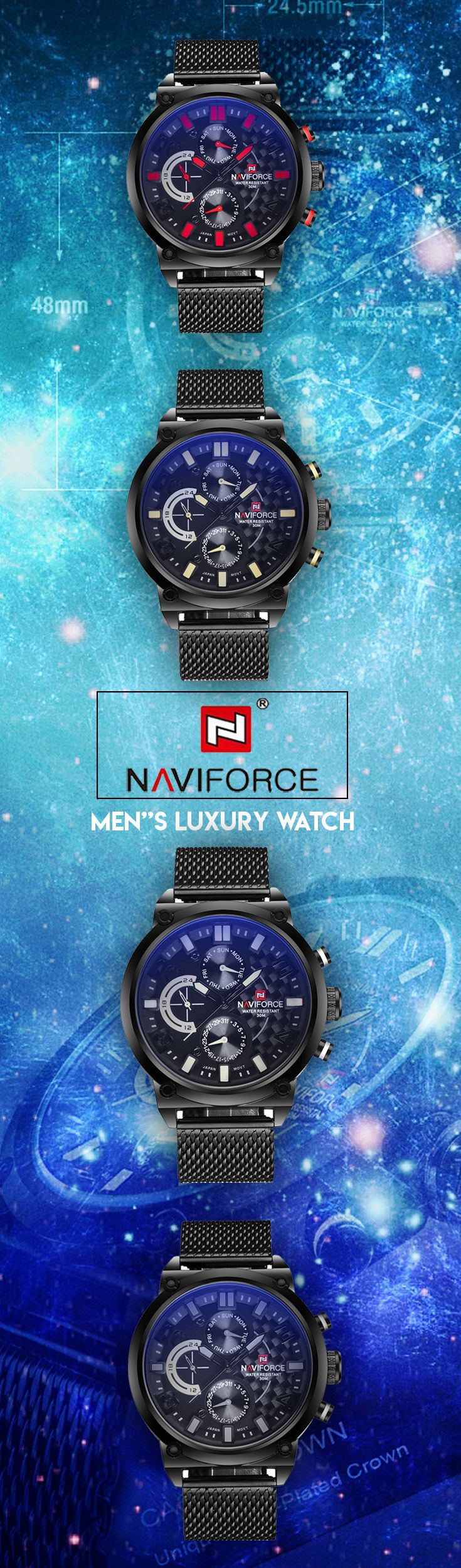 NAVIFORCE Luxury Full Steel Men Watches - Men's fashion brand affordable style timepiece chronograph #menswatch #steelwatch